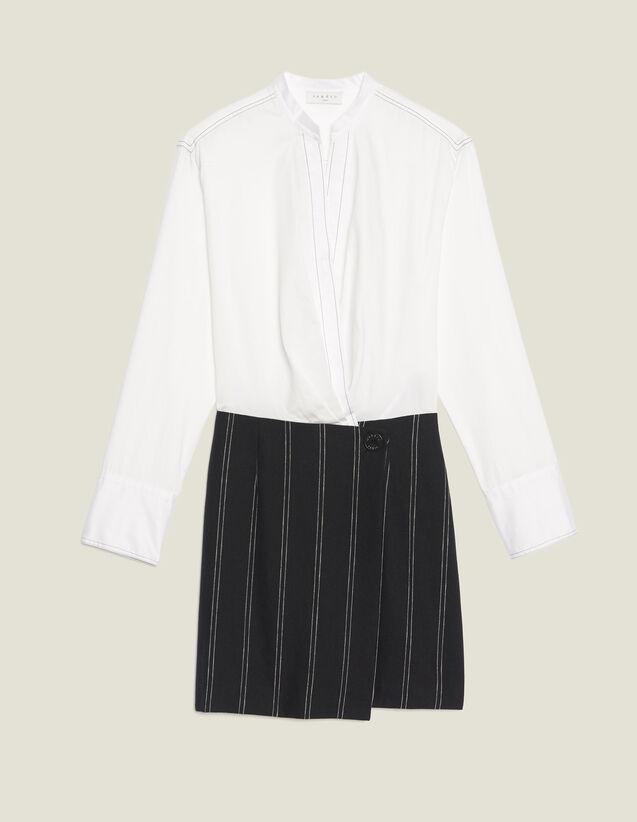 Vestido De Algodón Efecto 2 En 1 : LastChance-FR-FSelection color Crudo