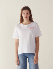 Camiseta Con Mensaje Flocado : null color Blanco