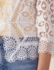 Camisa De Encaje Y Manga 3/4 : null color Blanco