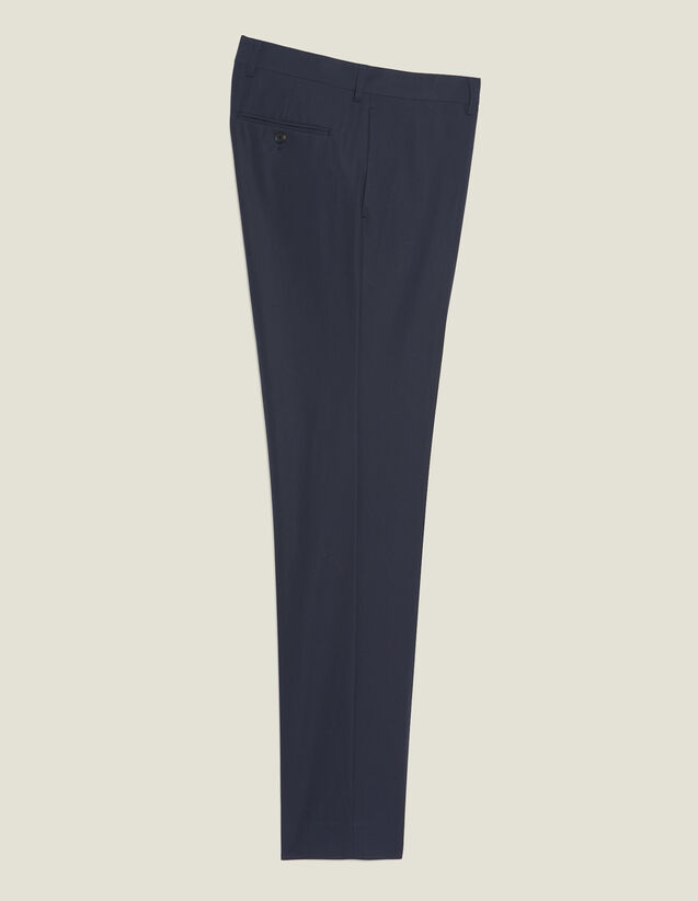 Pantalón De Traje De Algodón : Trajes & Smokings color Tinta