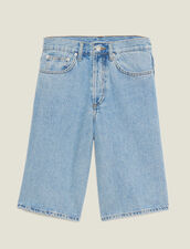 Bermudas Vaqueras : SOLDES-CH-HSelection-PAP&ACCESS-2DEM color Blue Vintage - Denim