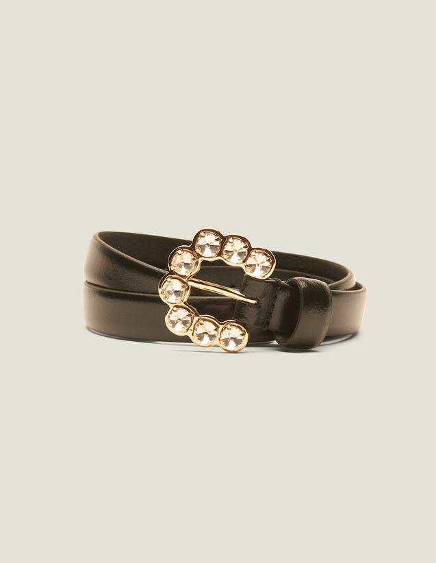 Cinturón Con Hebilla De Estrás : Cinturones color Negro