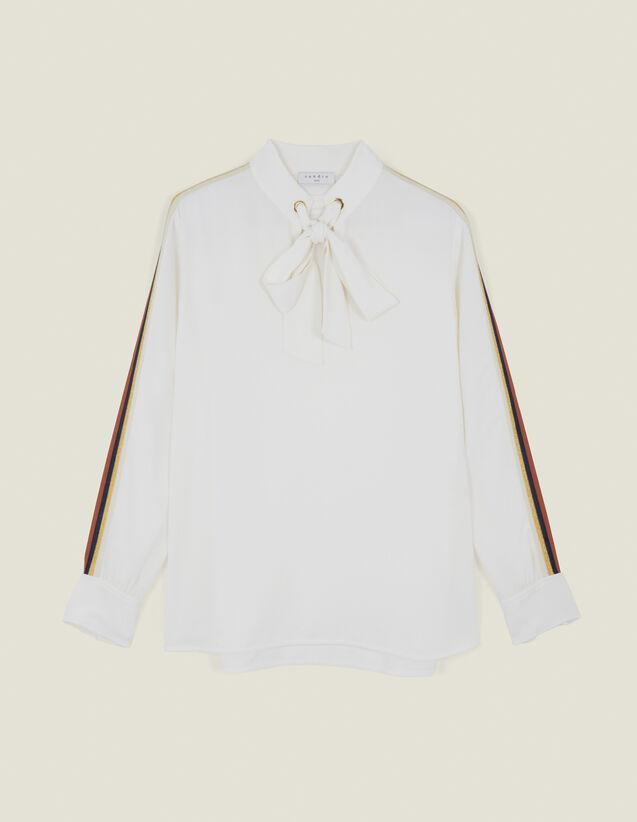 Top Fluido Adornado Con Un Pasamano : Tops & Camisas color Crudo