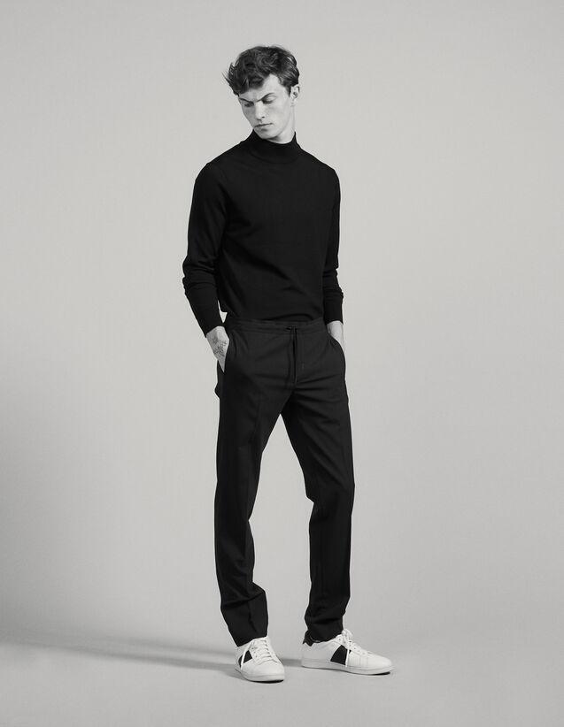 Pantalón Con Un Elástico En La Cintura : Pantalones & Bermudas color Negro