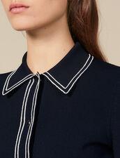 Cárdigan corto tipo camisa : Jerseys & Cárdigans color Marino