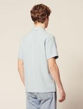 Camisa De Rayas De Punto : Camisas color Sky Blue