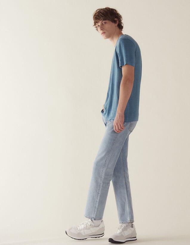 Camiseta De Lino : Camisetas & Polos color Tinta