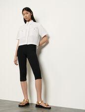 Corsario de punto : Pantalones color Negro