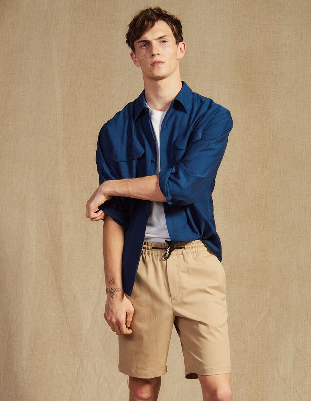 Bermudas Con Cordón De Ajuste En Cintura : Pantalones & Bermudas color Beige
