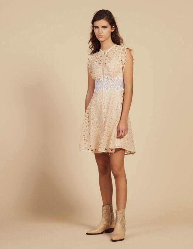 Vestido Corto De Guipur : LastChance-FR-FSelection color Marfil