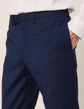 Pantalón De Traje De Lana Mohair : Copy of JP-DE-HCostumes&Smokings color Azul