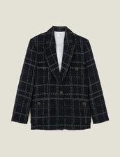 Chaqueta de sastre de tweed : Cazadoras & Chaquetas color Negro