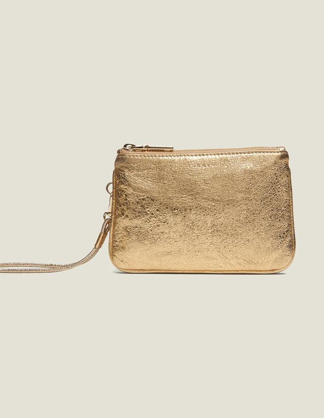 Pochette Addict : Pequeña Marroquinería color Full Gold