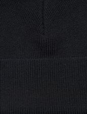 Gorro De Mezcla De Lana : Guantes & Gorros color Negro