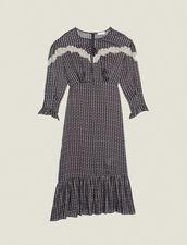 Vestido Largo Estampado Estilo Bohemio : null color Negro