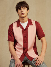 Camisa Fluida De Manga Corta : Camisas color Burdeos