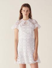 Vestido De Encaje Con Volante : null color Blanco