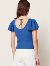 Top Ajustado De Punto : null color Azul