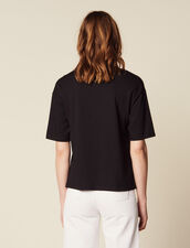 Camiseta Superancha Con Mensaje : null color Negro