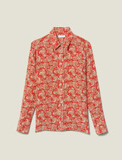 Camisa de seda estampada : FBlackFriday-FR-FSelection-30 color Rojo