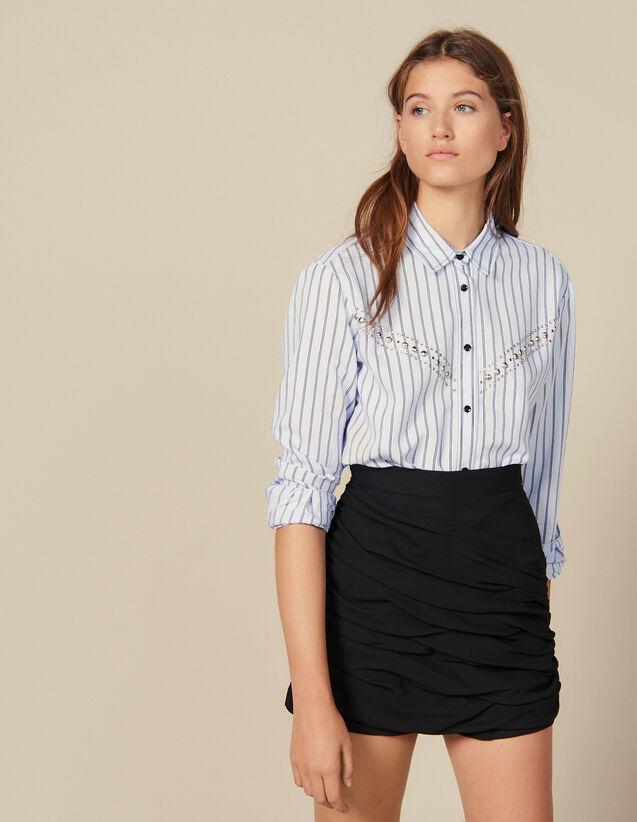 Short Con Juego De Drapeados : Faldas & Shorts color Negro