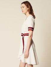 Vestido Cruzado Con Canalé : null color Crudo