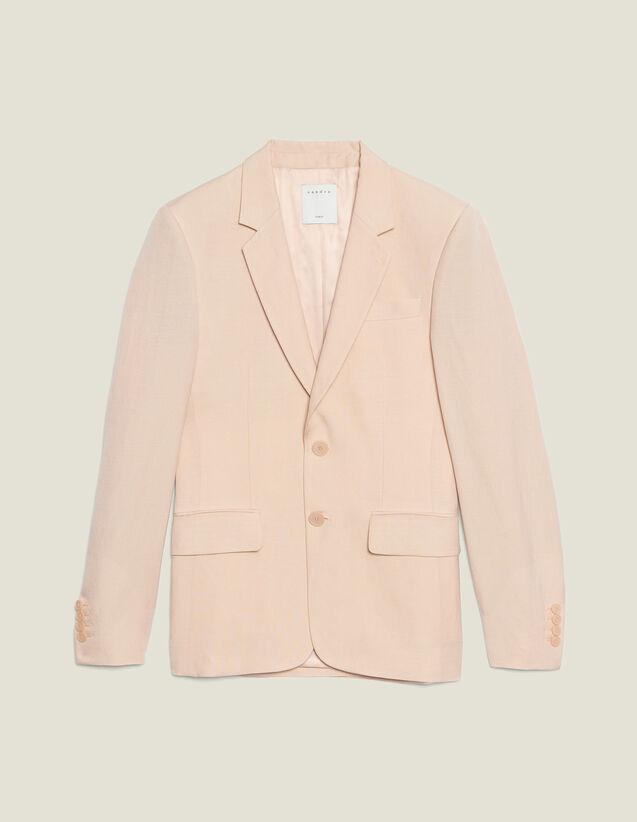 Chaqueta De Traje De Mezcla De Lino : Trajes & Smokings color Rosa palo