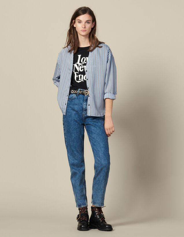 Camisa de popelina de rayas : FBlackFriday-FR-FSelection-50 color Ciel