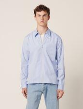 Camisa De Rayas Con Cremallera : Sélection Last Chance color Azul