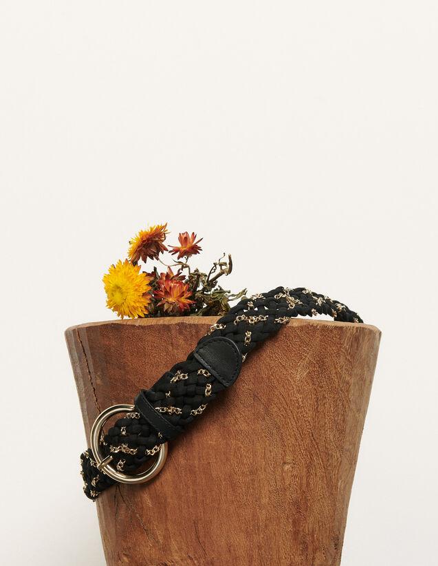 Cinturón trenzado : Cinturones color Negro