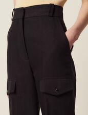 Pantalón Cargo : null color Negro