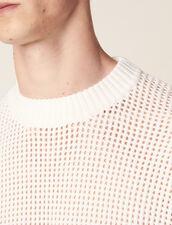 Jersey De Punto Calado : Jerseys & Cárdigans color Crudo