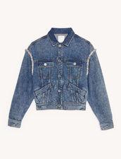 Chaqueta de denim con strass : Cazadoras & Chaquetas color Bleu jean