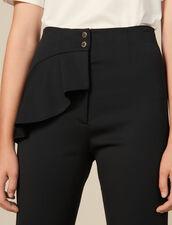 Pantalón afilado con faldón : FBlackFriday-FR-FSelection-Pantalons&Jeans color Negro
