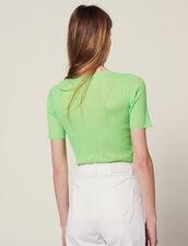 Camiseta Fosforescente De Punto : null color Vert fluo