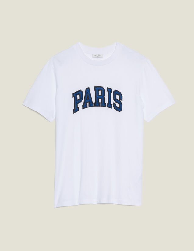 Camiseta Con Parche Con Mensajes : Sélection Last Chance color Blanco