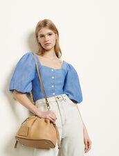 Camisa de manga abullonada : Tops & Camisas color Azul