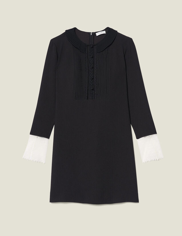 Vestido Corto De Manga Larga : FBlackFriday-FR-FSelection-Robes color Negro