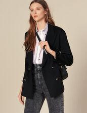 Blazer de doble botonadura de lana : Cazadoras & Chaquetas color Negro