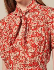 Vestido Estampado De Manga Corta : Novedades color Rojo