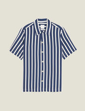 Camisa Manga Corta De Rayas En Contraste : Sélection Last Chance color Marino